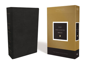 KJV, Preaching Bible, Premium Calfskin Leather, Black, Comfort Print: Holy Bible, King James Version Leather Bound – Import, 7 February 2019