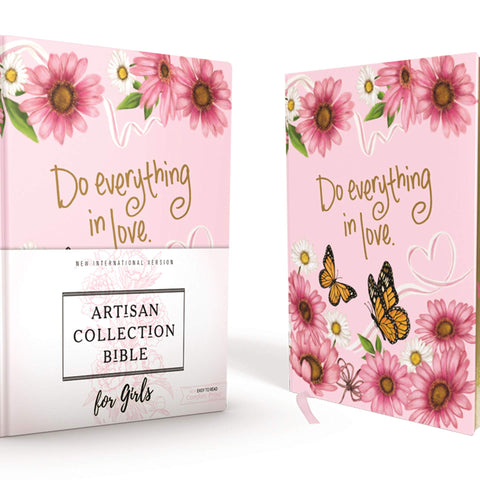 NIV, Artisan Collection Bible for Girls, Cloth over Board, P Hardcover – Import,