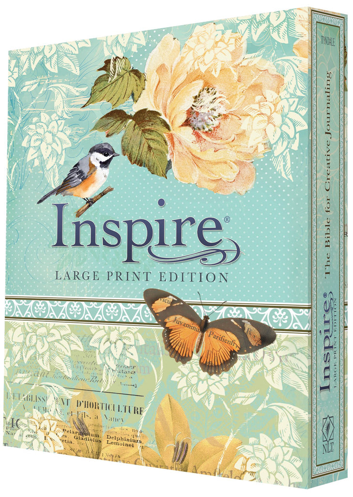 NLT Inspire Bible Large Print, Tranquil Blue (Inspire: Large Print) Hardcover – Large Print