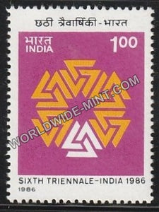 1986 Sixth Triennale-India 86 MNH