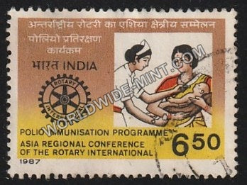 1987 Asia Regional Conf. of the Rotary Int. Polio Immunisation Programme Used Stamp