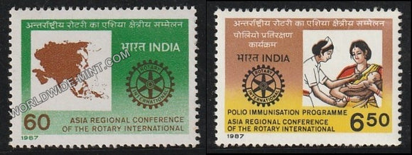 1987 Asia Regional Conf. of the Rotary Int. - Set of 2 MNH