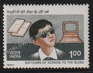 1987 100 years of Service to the Blind - Blind Boy MNH