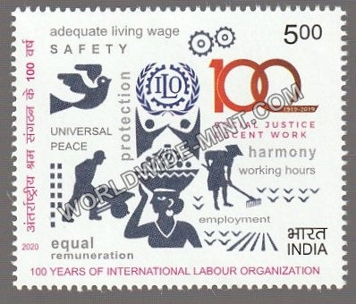 2020 100 Years of International Labour Organization Single Stamp MNH