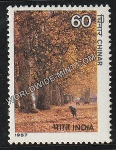 1987 Indian Trees-Chinar MNH