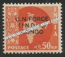 1963 India UN forces in Congo - 50np MNH