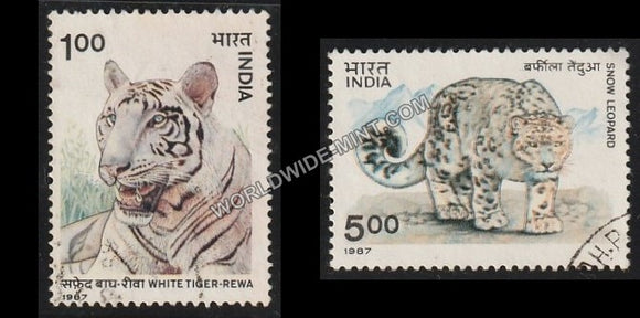 1987 Wild Life-Set of 2 Used Stamp