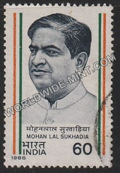 1988 Mohan Lal Sukhadia Used Stamp