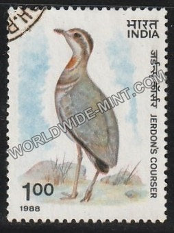 1988 Wild Life (Jerdon's Courser) Used Stamp
