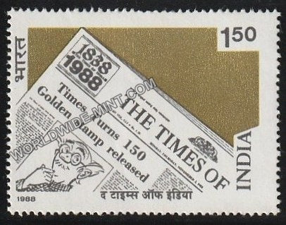 1988 The Times of India MNH