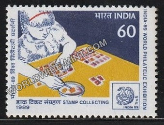 1989 India 89-Stamp Collecting MNH