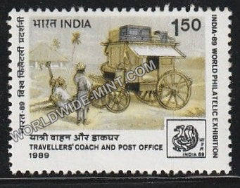 1989 India 89-Traveller's coach Post Office MNH
