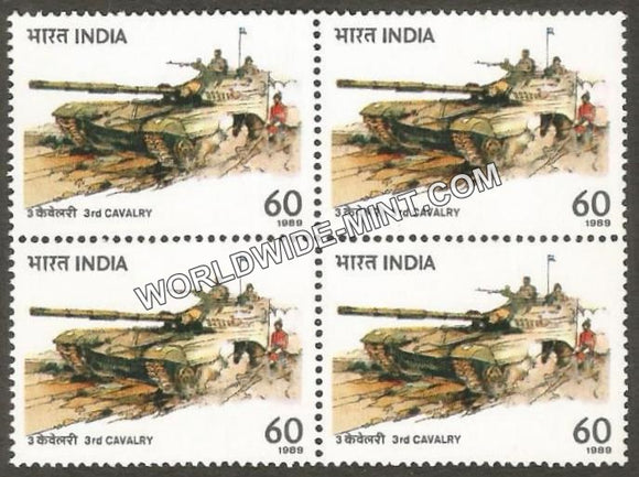 1989 3rd Cavalry Tank Regiment Block of 4 MNH