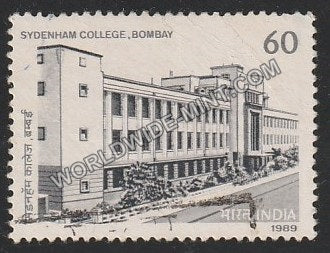 1989 Sydenham College, Bombay Used Stamp