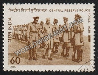1989 Central Reserve Police Force Used Stamp