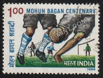 1989 Mohun Bagan Centenary Used Stamp