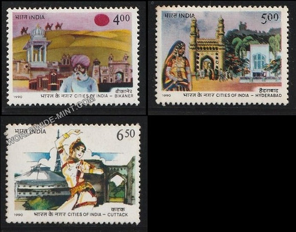 1990 Cities of India-Set of 3 MNH