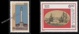 1990 Tricentenary of Calcutta-Set of 2 MNH
