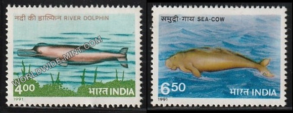 1991 Endangered Marine Mammals-Set of 2 MNH