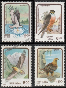 1992 Birds of Prey-Set of 4 MNH