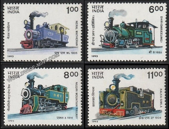 1993 Mountain Locomotives-Set of 4 MNH