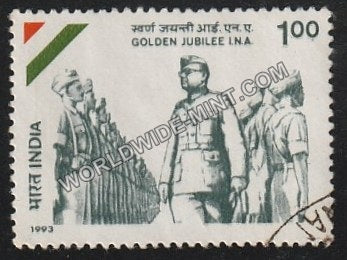 1993 INA Golden Jubilee Used Stamp