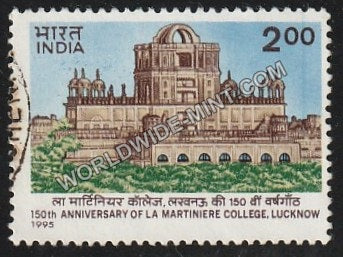 1995 150 Anniversary of La Martiniere College, Lucknow Used Stamp