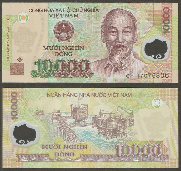 Vietnam  10000 Dong   Currency Note Polymer
