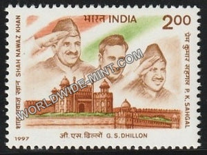 1997 India's Struggle for Freedom Three INA Stalwarts MNH