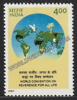 1997 World Convention on Reverence for all life MNH