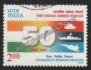 1997 50 Years of Indian Armed Forces Used Stamp