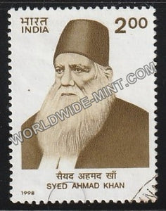 1998 Syed Ahmed Khan Used Stamp