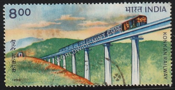 1998 Konkan Railway Used Stamp