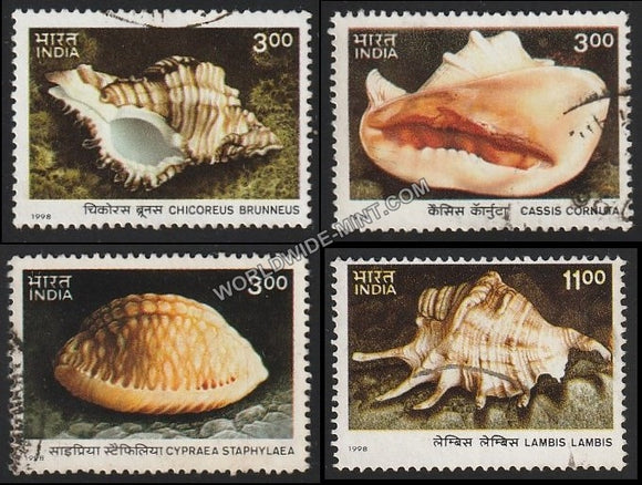 1998 Sea Shells-Set of 4 Used Stamp