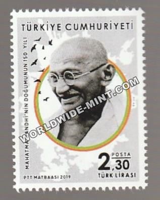 2019 Turkey Gandhi stamp
