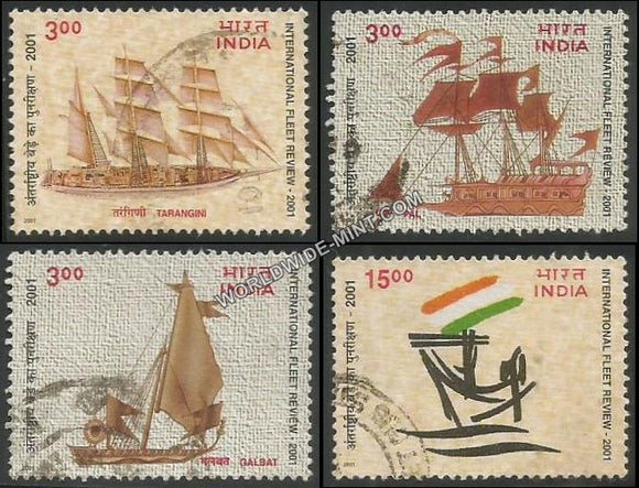 2001 International Fleet Review 2001-Set of 4 Used Stamp