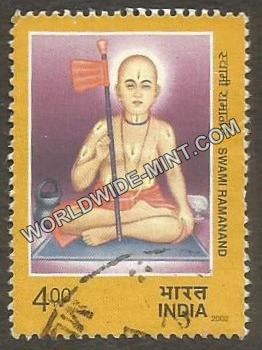 2002 Swami Ramanand Used Stamp
