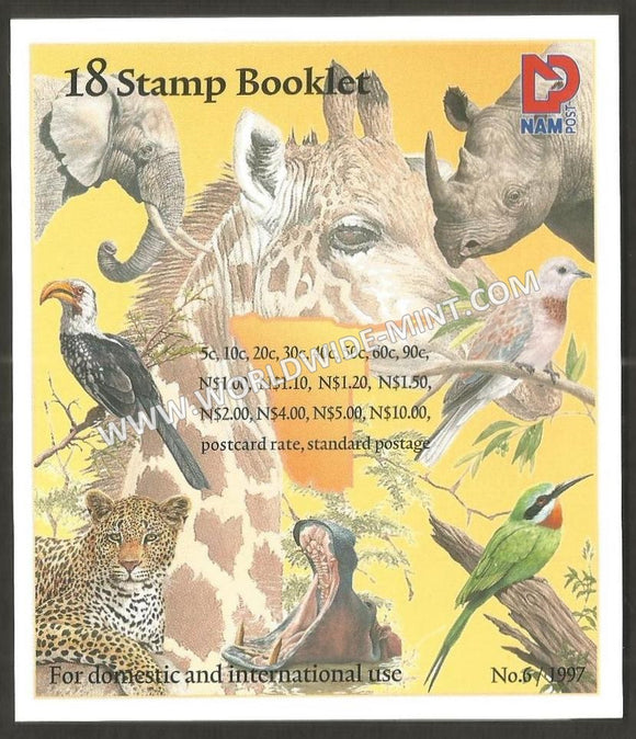 Namibia BOOKLET WITH 18 STAMPS - Wildlife Theme