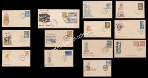 1961 Complete Year Pack FDC
