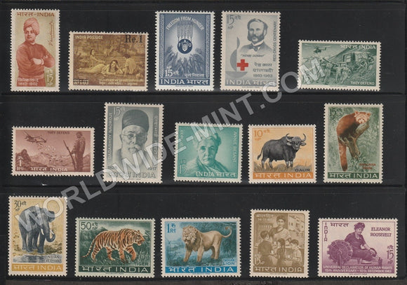 1963 Complete Year Pack MNH