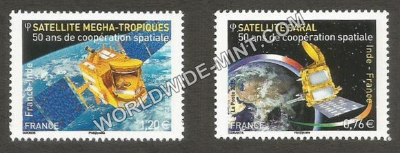 2015 France India Joint Issue Stamp set