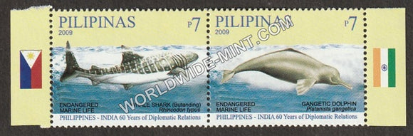 2009 philippines India Joint issue Setenant