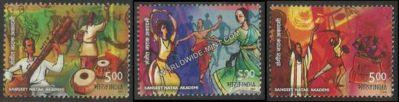 2003 Sangeet Natak Akademi-Set of 3 Used Stamp
