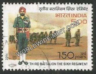 2006 Third Battalion The Sikh Regiment Used Stamp