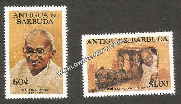 1984 Antigua & Barbuda Gandhi Stamp set