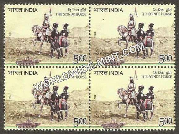 2012 The Scinde Horse Block of 4 MNH