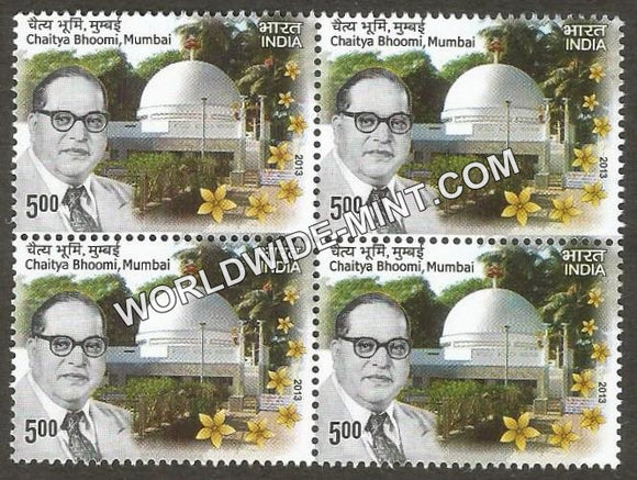 2013 Chaitya Bhoomi Mumbai Block of 4 MNH