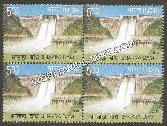 2013 Bhakra Dam Block of 4 MNH