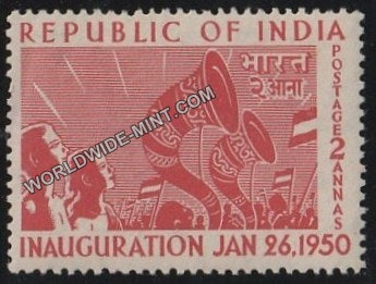 1950 Republic of India Inauguration-Rejoicing crowds MNH