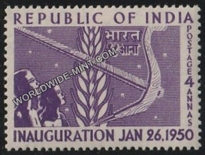 1950 Republic of India Inauguration-Corn and Plough MNH